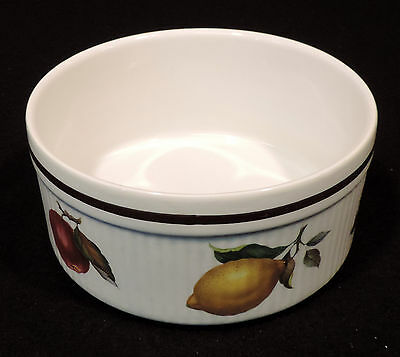 """Alfred Meakin 6in """"Salem"""" oven baking dish fruits gold trim England"""