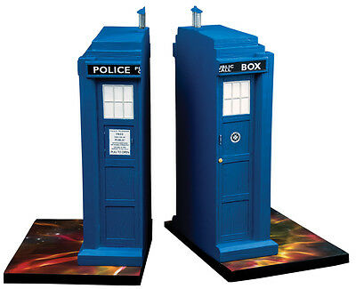 """DOCTOR WHO - Tardis 8.5"""" Polyresin Bookends Set (2) by Ikon Collectables #NEW"""