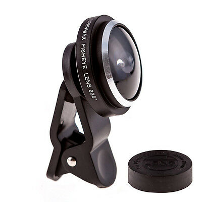 Universal 235 Degree Super Fish Eye Lens Clip-on for iPhone 6 5 Samsung HTC...