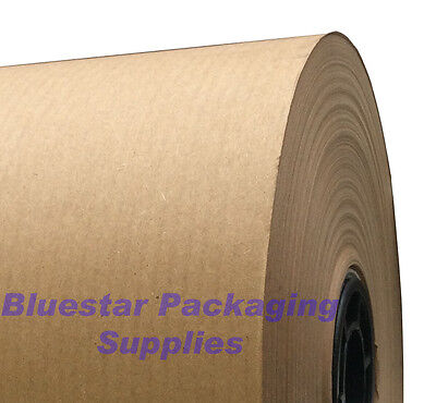 Kraft MG Ribbed Brown Wrapping Paper Roll Strong 90gsm