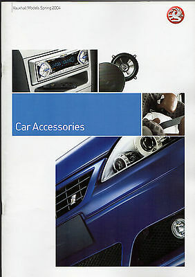 Vauxhall Accessories 2004 UK Market Sales Brochure Corsa Astra Vectra Signum