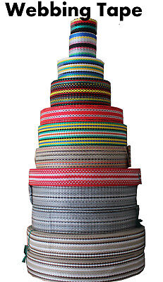 Polypropylene Webbing Strapping Tape Various Colors Sizes Lengths Decor Canvas
