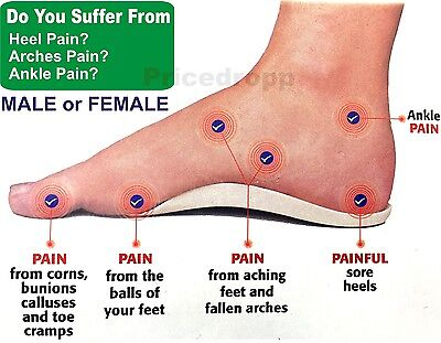 Orthotic Foot Support Insole For Men / Woman- Flat Feet Heels Arches Pain Relief