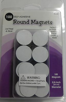 Round Thin Magnets 100 ct. Self-Adhesive Peel & Stick Quilling-General Crafts