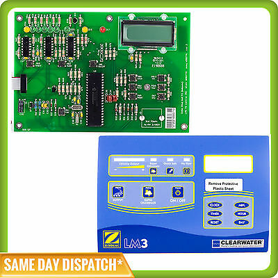 Zodiac Clearwater Lm3 / Lm2 Pcb Board With Clock / Timer - W082741 + Top Label