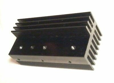 Aluminium Heatsink Black 80x37x32mm 280cm² for Power Devices TO-220/TO-126 style