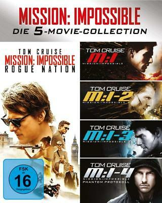 Mission Impossible The 5 Movie Collection 1-5 Tom Cruise Blu-Ray Deutsch