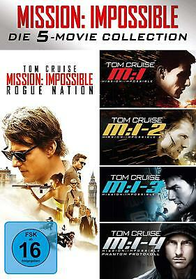Mission Impossible The 5 Movie Collection 1-5 Tom Cruise Dvd Deutsch