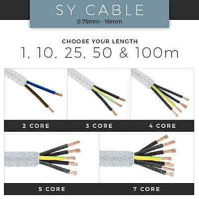 Sy Cable 0.75Mm-16Mm Flexible Control Braided Cable X1M, X10M, X25M, X50M, 100M