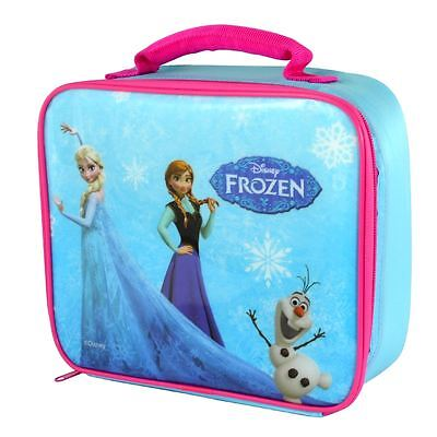 Frozen Anna Elsa Childrens School Girls Kids Insulated Lunch Box Bag Bottle Set