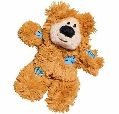 Kong Cat Kitten Softies Patchwork Bear Premium Catnip Toy Crinkly Soft Plush