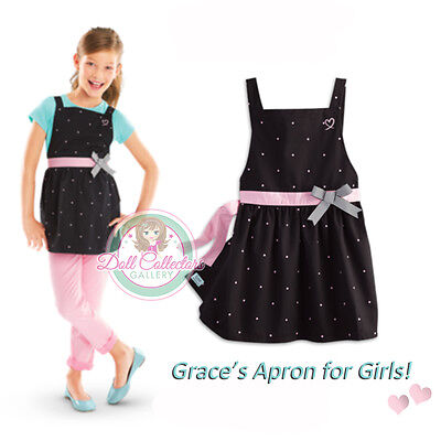 American Girl CL LE GRACES POLKA DOT APRON SIZE XS 6 for Girls Bake NEW