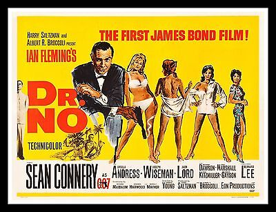DR. NO * CineMasterpieces RARE UK BRITISH QUAD ORIGINAL MOVIE POSTER 1962 DOCTOR