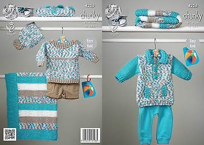 KINGCOLE 4226 BABY chunky  KNITTING PATTERN  16-24IN -not the finished garments