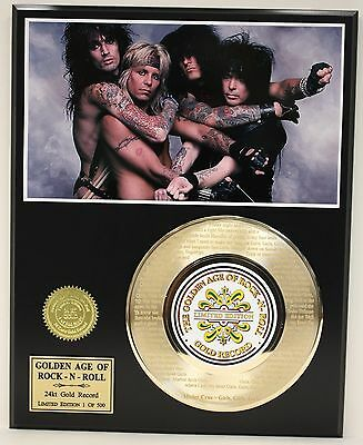 Motley Crue - 24k Gold Record Etched Lyrics - Girls Girls Girls - USA Ships Free