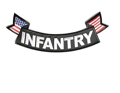 INFANTRY Large Military Rocker/Tab Patch BOTTOM for Vests or Jackets