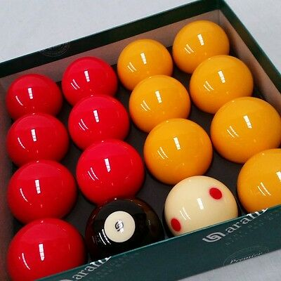 """Aramith CASINO POOL BALLS 2"""" with 1 7/8"""" Measle Cue Ball - SUPER"""