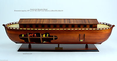 """Noah's Ark Wooden Ship Model 47"""" - Ready to display NEW"""