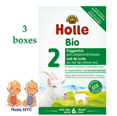 Holle Organic Goat Milk Formula Stage 2 400g FREE SHIPPING 3 BOXES 07/2020