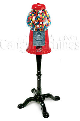Carousel Gumball Machine and Red Stand with Dubble Bubble Gumballs