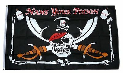 Flagge / Fahne Pirat Name your Poison Hissflagge 90 x 150 cm