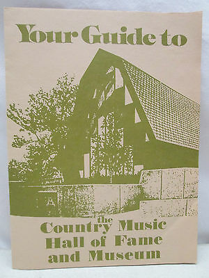 Vintage Brochure Guide To Country Music Hall of Fame Nashville Tennessee