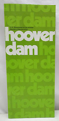 Vintage Brochure Hoover Dam Colorado River Black Canyon Physical Data Lake Mead