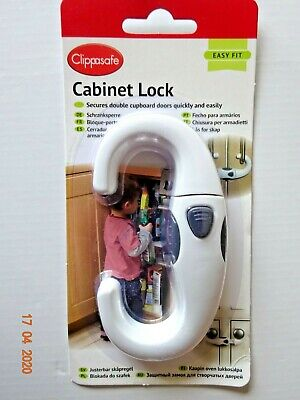Kitchen Cabinet Cupboard Slide Lock Child Baby Door Handles Safety Sliding White