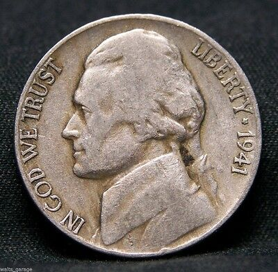 1941 D Jefferson Nickel, Nice, Circulated, Over 200 Sold!   Free Ship!
