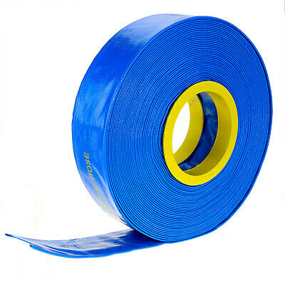 "100m x 1"" 25mm ID Outlet Layflat Hose Lay Flat Water Hose for Transfer Pump Etc"