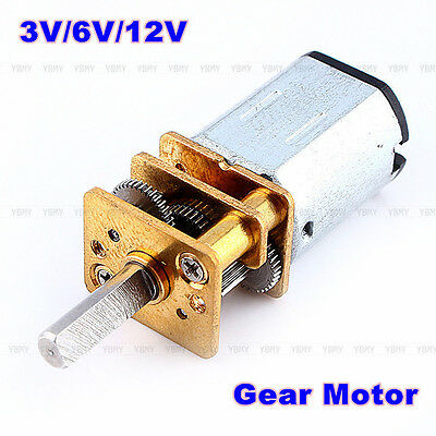 DC3V 6V 12V N20 Micro Speed Reduction Gear DC Motor with Metal Gearbox Wheel New