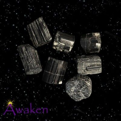 *ONE* BLACK TOURMALINE Natural Crystal 10-15mm **TRUSTED SELLER**