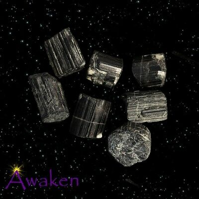 *ONE* BLACK TOURMALINE Natural Crystal 25-35mm **TRUSTED SELLER**