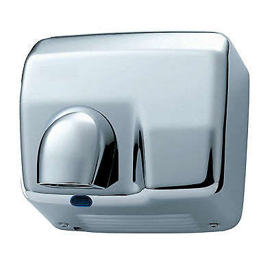 Electric Hand Dryer Nozzle Drier Wall Mount Heavy Duty Automatic Warm Air Chrome