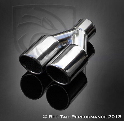 Truck Angled Polished 12in Clamp-On Exhaust Tip Double Wall 3 In 4 Out 234419