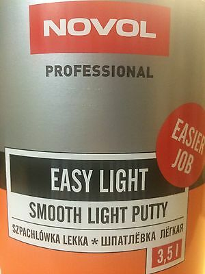 2 x NOVOL EASY LIGHT 3.5L POLYESTER CAR BODY FILLER HARDENER U-POL EASY KIT SAND