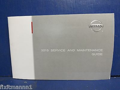 2015 Nissan service and maintenance guide Genuine OEM EE275