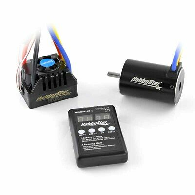 HobbyStar Short Course Combo 80A Brushless ESC 3800KV 550 4-Pole Motor 5.0mm
