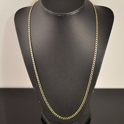 10K Yellow Gold Curb Link Chain Necklace L:22.5 inches W:3mm