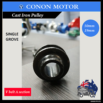 Single Groove Pulley 50mm shaft size 19mm