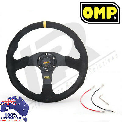 OMP Style 14inch 350mm Steering Wheel Suede Leather