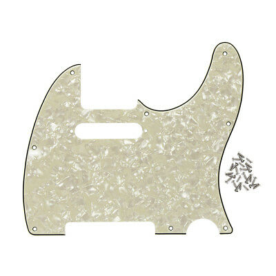 1PCS 4Ply Aged Pearl STD Fender Telecaster Guitar Pickguard 8Holes Scratch Plate