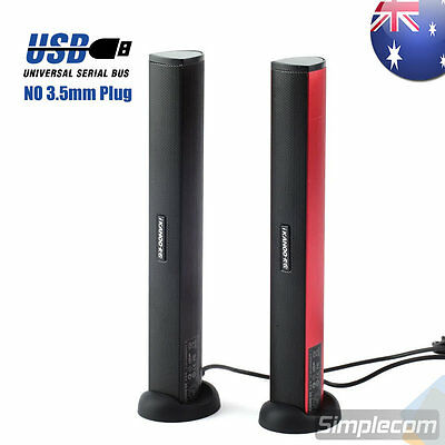 iKanoo N12 USB Portable Stereo Speaker Audio Soundbar for PC Laptop Aluminium