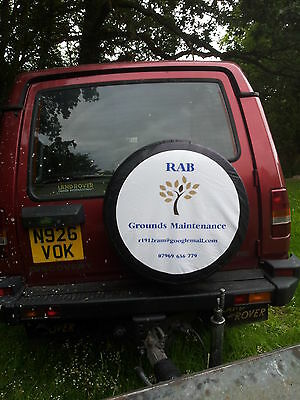 Custom Printed Spare Wheel Cover -4x4- Business advertising Personalised wheel