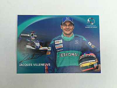 New Jacques Villeneuve F1 Driver Card Sauber Formula One Card