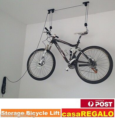 STORAGE HOIST SURFBOARD KAYAK BICYCLE RACK BIKE LIFT CEILING HOOKS Garage Hangin