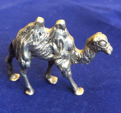 Solid Silver Hallmarked 800 Novelty Camel Statue Animal Figure Height 4cm