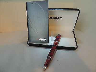 Marlen Secret Fountain Pen Red, Very Rare,best Ebay Deal,mint In Original Box.