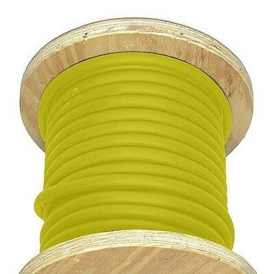 50' 4/0 AWG Welding Cable Yellow Flexible Outdoor Wire