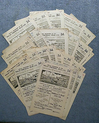 Wigan Rugby League Home Programmes - 1948 / 1949